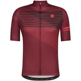 AGU Essential Striped SS Jersey Men, windsor wine